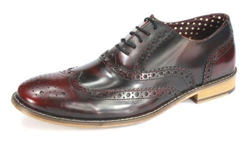 London Brogues Gatsby Hi Shine Bordo Shoes